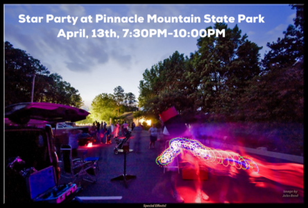 Star Party April 13 7:30 pm