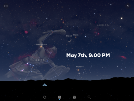 Orion in sky on May 7th