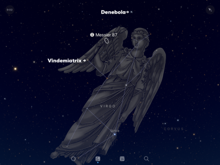 Graphic of Virgo and Messier 87