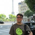 Daniel Davis at Eiffel Tower