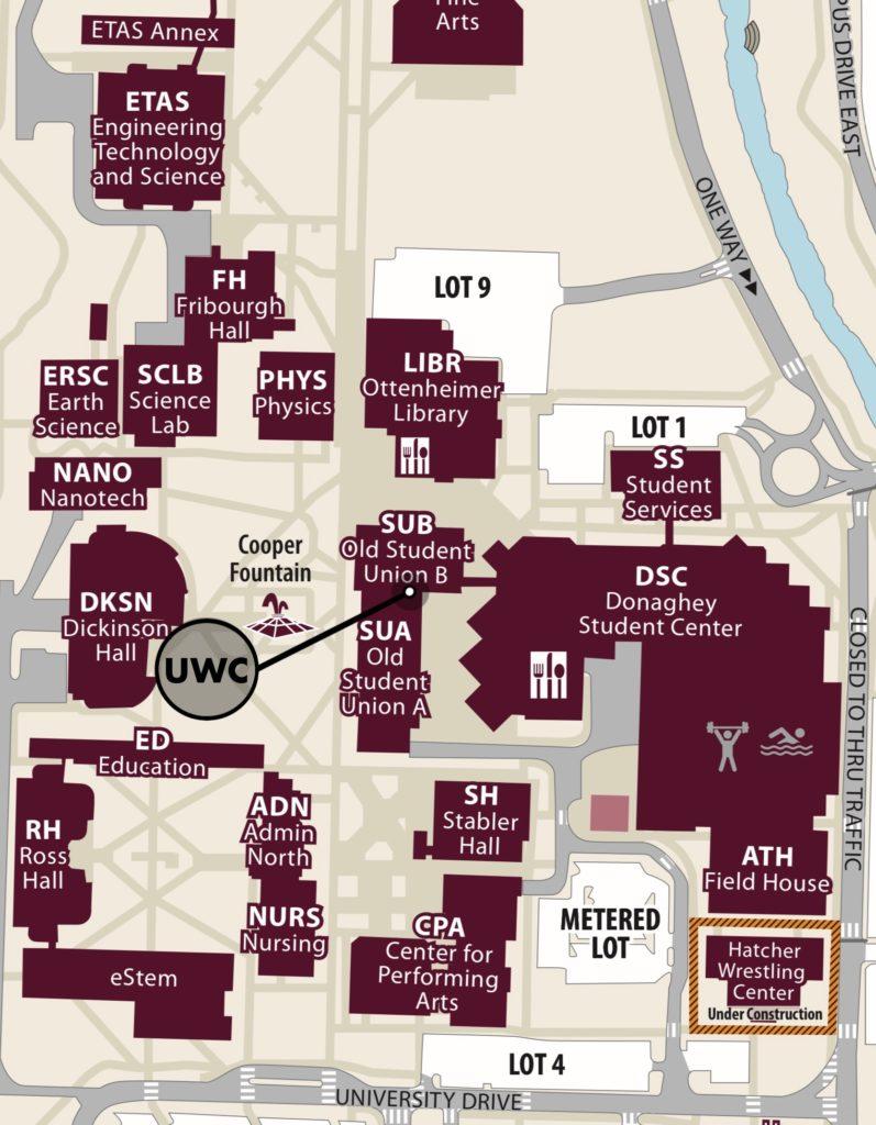 Campus Map UWC Focus